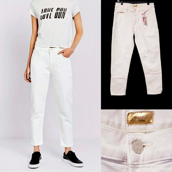 """MOTHER Denim - Mother """"Dropout"""" in Whipping cream Jeans size 28💋"""
